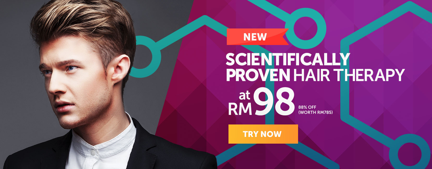 Scientifically Proven Hair Therapy, only RM98
